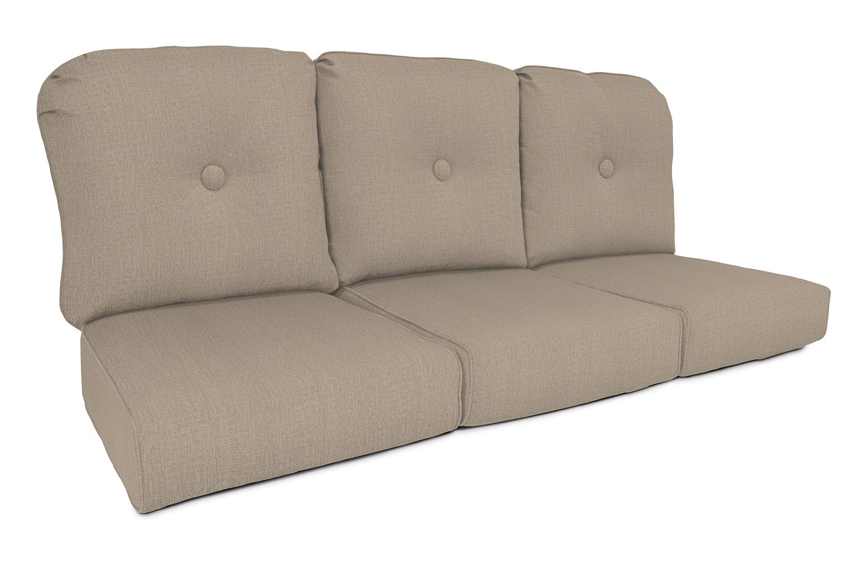Set of 2 Casual Cushion High Back Chair Hinged Outdoor Cushion