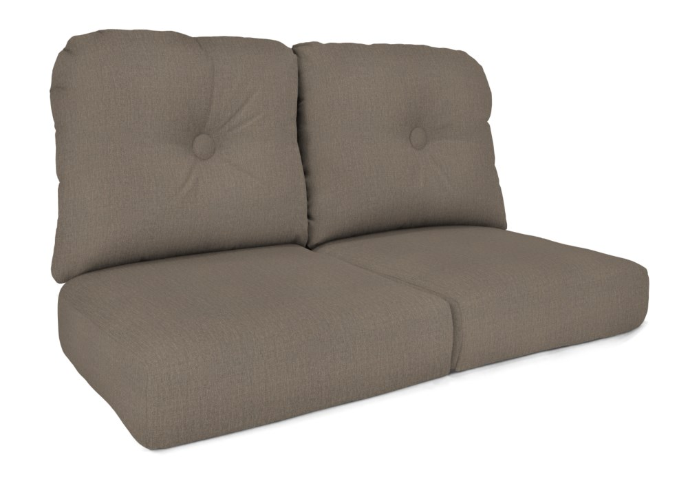 Order Nb For No Buttons Deluxe Wicker Love Seat Cushion With Nci Furniture.